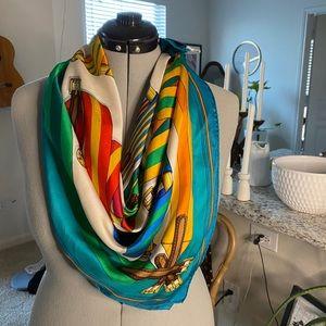 Silk Hermes Belt Design Large Scarf